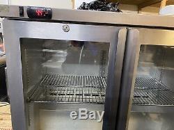 Osborne Under Counter Double Door Drinks Fridge For Cans & Bottles