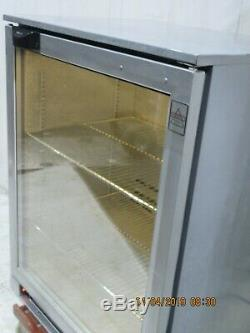 Osborne Under Counter Single Glass Door Drinks Display Fridge 1700 + Lights