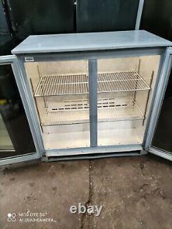 Osbourne under counter commercial double door glass fridge bottle cooler