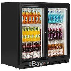 Pd20 Interlevin New Undercounter Sliding Door Bottle Cooler Bar Pub Beer Fridge