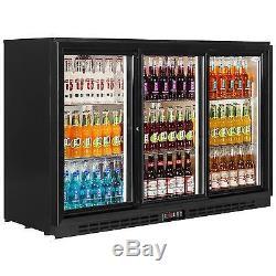Pd30s Back Bar Undercounter Sliding 3 Door Drink Bottle Bar Cooler Fridge