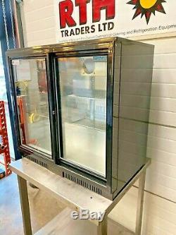 Polar Bottle Fridge Double Glass Door Display Undercounter Chiller Cooler £225+V