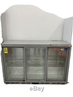 Polar CF750 Under Counter 88L Glass Door Cooler White