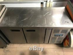 Polar Stainless Steel Under Counter Fridge With Castors 419