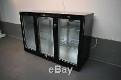 Polar Triple Door Glass Fronted Undercounter Bar Bottle Chiller 1350mm