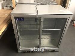 Prodis NT2 Under Counter Fridge Back Bar Bottle Cooler double Sliding Doors