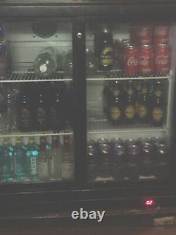 Prodis under counter commercial double sliding door glass fridge bottle cooler