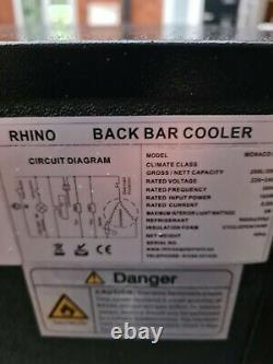 Rhino 2 Sliding Door Under Counter Man Cave Bulmers Bottle Cooler Fridge