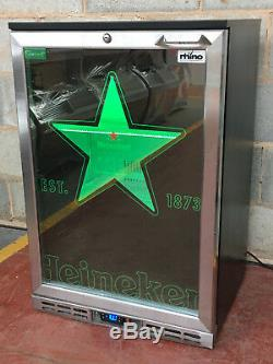 Rhino Single Door Drinks Display / Under Counter Bar Froster / Glass Freezer LED