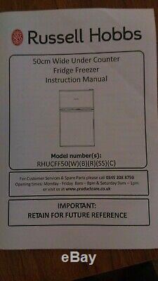 Russell Hobbs Black 90L Undercounter Fridge Freezer RHUCFF50W 50cm Wide