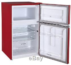 Russell Hobbs RHUCFF50R 50cm Wide Red Under Counter Fridge Freezer, Grade A
