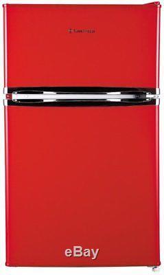Russell Hobbs RHUCFF50R Red 50cm Wide Under Counter Freestanding Fridge Freezer
