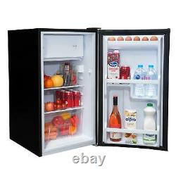 SIA LFIBL 48cm Black Free Standing Under Counter Fridge With Ice Box A+ Rated