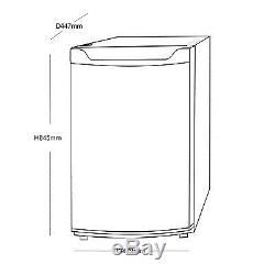 SIA LFSI01BL 49cm Free Standing Under Counter Fridge In Black With Ice Box