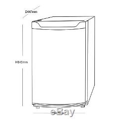 SIA LFSI01WH 49cm Free Standing Under Counter Fridge In White With Ice Box