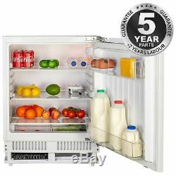 SIA RFU101 60cm 142L White Integrated Under Counter Fridge With Auto Defrost