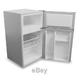 SIA UFF01SS 92L Freestanding Silver / Grey Under Counter 2 Door Fridge Freezer