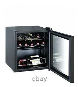 SMAD Beer Wine Drinks Fridge 43L Glass Door Wine Cooler 16 Bottles Under-Counter