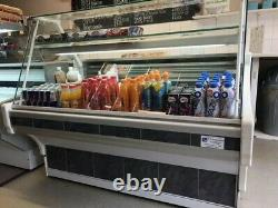 Serve Over Glass Display Counter with Undercounter storage