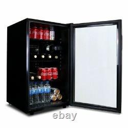 Sia DC1BL Free Standing Glass Door Under Counter Beer, Wine And Drinks Fridge