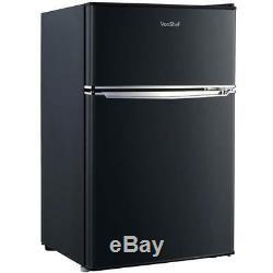 Small Black Fridge & Freezer Modern Under Counter Drinks Refrigerator Studio A+