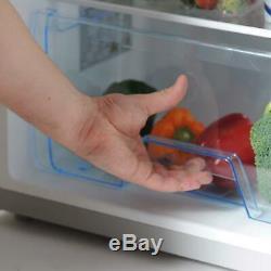 Statesman 55cm Under Counter Fridge with 4 Ice Box Silver Large Salad Drawer
