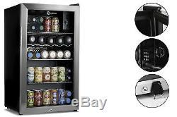 Subcold Super85 LED SS Black/Stainless Steel Door Drinks Beer Wine Fridge