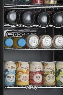 Subcold Super85 LED Under Counter Fridge 85L Beer Wine And Drinks Fridge Black