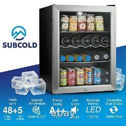 Subcold Super 65 LED Silver Refurbished Grade A Beer & Wine Drinks Fridge