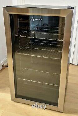 Subcold Super 85 LED drinks / beer / wine glass door fridge
