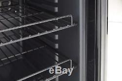 Swan 80L Glass Fronted Under Counter Fridge-Drinks Vino Wine Cooler 85W Black
