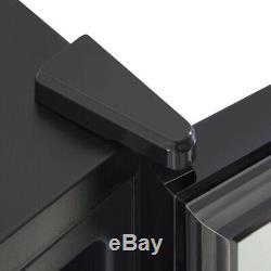 Swan 80 Litre Glass Fronted Under Counter Fridge Black (SR12030BN)
