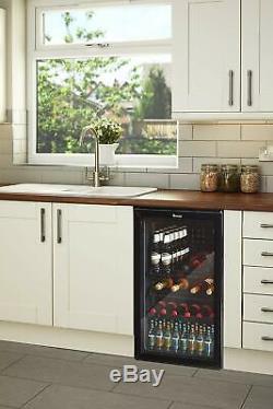 Swan Under Counter Chiller Cooler Fridge Beer Cans Bottles Wine Drinks SR12030BN