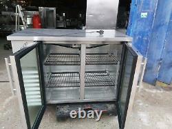 True undercounter double door drink display fridge bar fridge bar cooler used
