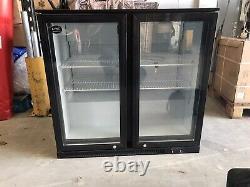 Under Counter Double Glass Door Fridge