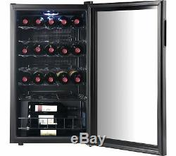 Under Counter Fridge Bar Chiller Cafe Wine Beer Bottle Cans Cooler 95L Black
