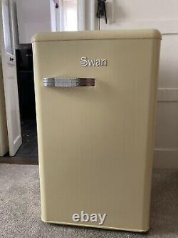 Under Counter Fridge Cream Retro Swan
