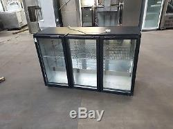 Under counter 3 glass door fridge bar cooler drink wine fridge for restaurant