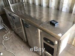 Under counter Commercial fridge stainless steal work top prep fridge