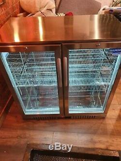 Under counter bar fridge double door