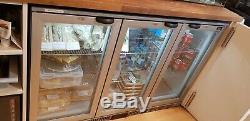 Under counter triple door fridge LEC