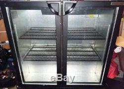 Undercounter 2 Two Doors Bottles Cans Shop Pub Bar Club Retail Display Fridge