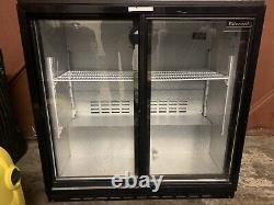 Used Double under counter bar fridge