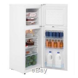 White 136 Litre Under Counter Compact Refrigerator Fridge Freezer LEC T50122W