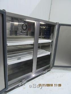 Williams Double Solid Door Under Counter Back Bar Drinks Milk Fridge Chiller Bc2