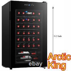 Wine Chiller Premium 34-Bottle Cooler Champagne Refrigerator Under Counter Bar