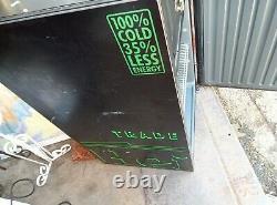 (rare Find) Heineken Brand Bar Beer Fridge Cooler Man Cave Green Interior Light